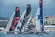 Alinghi, Emirates Team New Zealand and Real Team. Day four of the Extreme Sailing Series Regatta at Nice. 5/10/2014