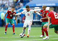 Alireza Jahanbakhsh (Iran) Karim El Ahmadi (Morocco)<br /> Saint Petersburg 15-06-2018 Football FIFA World Cup Russia  2018 <br /> Morocco - Iran / Marocco - Iran <br /> Foto Matteo Ciambelli/Insidefoto