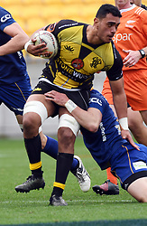 Wellington's Sheridan Rangihuna against Otago in the Mitre 10 Rugby match at Westpac Stadium, Wellington, New Zealand, Sunday October 01,, 2017. Credit:SNPA / Ross Setford  **NO ARCHIVING**