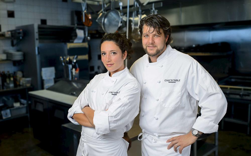 Chef's Adam and Katie
