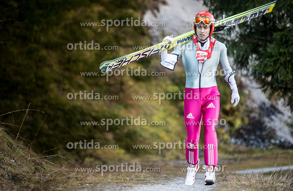 19.12.2014, Nordische Arena, Ramsau, AUT, FIS Nordische Kombination Weltcup, Skisprung, Training, im Bild Bjoern Kircheisen (GER) // during Ski Jumping of FIS Nordic Combined World Cup, at the Nordic Arena in Ramsau, Austria on 2014/12/19. EXPA Pictures © 2014, EXPA/ JFK
