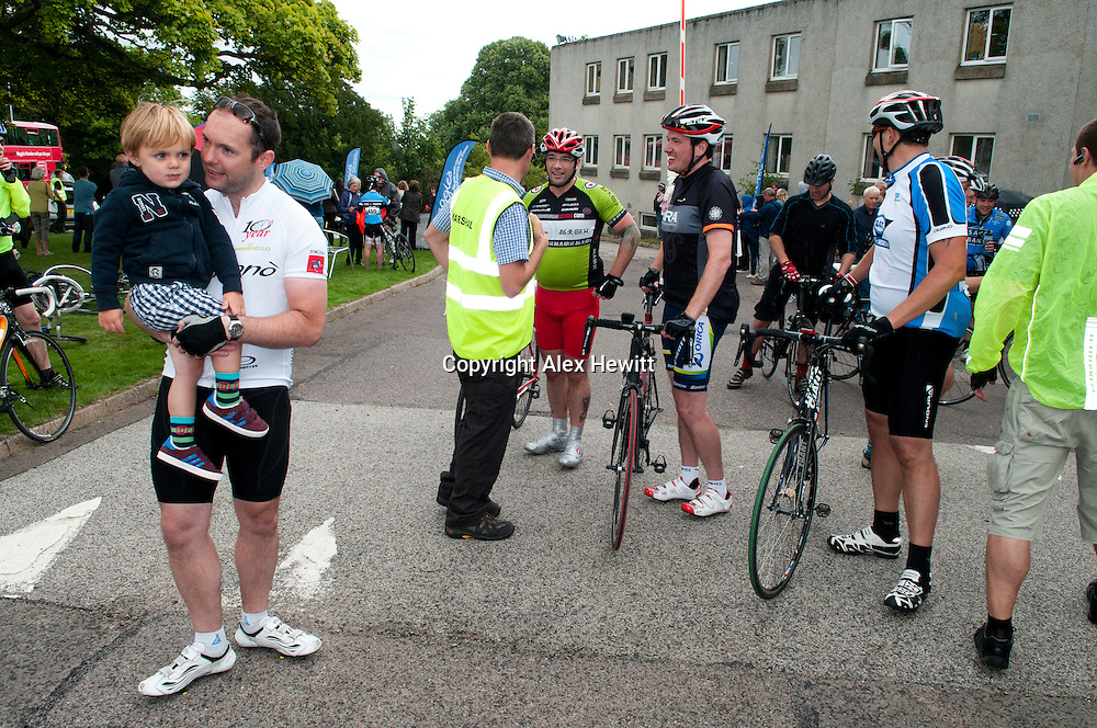 The 3rd Annual Ride the North charity cycle. 370 riders cycling setting off from the Eden Court Theatre in Inverness heading to Elgin on Friday 30th followed by Elgin to Aberdeen on Saturday 31st August.<br /> <br /> Copyright Alex Hewitt<br /> 07789 871 540