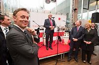 25 JUN 2013, BERLIN/GERMANY:<br /> Thomas Oppermann, SPD, 1. Parl. Geschaeftsfuehrer der SPD Bundestagsfraktion, Frank-Walter Steinmeier, SPD Fraktionsvorsitzender, und Peer Steinbrueck, SPD Kanzlerkandidat, und Petra Ernstberger, SPD, Parl. Geschaeftsfuehrerin, (v.L.n.R.), Hoffest der SPD Bundestagsfraktion, Restaurant Auster, Haus der Kulturen der Welt<br /> IMAGE: 20130625-02-007<br /> KEYWORDS: Sommerfest, Peer Steinbrück
