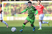 Forest Green Rovers Jack Aitchison(29), on loan from Celtic on the ball during the EFL Sky Bet League 2 match between Forest Green Rovers and Salford City at the New Lawn, Forest Green, United Kingdom on 18 January 2020.