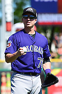 SCOTTSDALE, AZ - MARCH 09:  Ryan Casteel #72 of the Colorado Rockies in action prior to the spring training game against the San Francisco Giants at Scottsdale Stadium on March 9, 2016 in Scottsdale, Arizona.  The Colorado Rockies won 8-6. (Photo by Jennifer Stewart/Getty Images) *** Local Caption *** Ryan Casteel