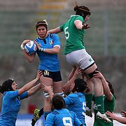 L'Aquila 12/02/2017 Stadio Fattori<br /> RBS 6 nations women 2017<br /> Italia vs Irlanda<br /> Isabellla Locatelli