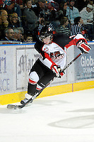 KELOWNA, CANADA, OCTOBER 26: Joshua Smith #3 of the Prince George Cougars skates on the ice as Prince George Cougars visit the Kelowna Rockets  on October 26, 2011 at Prospera Place in Kelowna, British Columbia, Canada (Photo by Marissa Baecker/Shoot the Breeze) *** Local Caption *** Joshua Smith;