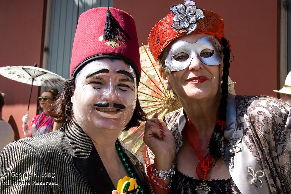 Sarah Eileen Hoffpauir and Lea Young at Mardi Gras in the French Quarter and Faubourg Marigny of New Orleans