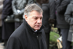 © under license to London News Pictures. 26/1/2011, Sir Sam Allardyce arriving at the  funeral of Bolton Wonderers and England star, Nat Lofthouse at Bolton Parish Church today (26/01/2011) Nat died at the age of 85. Photo credit should read:Joel Goodman/LNP