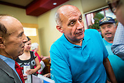 08 SEPTEMBER 2012 - SURPRISE, AZ:     Dr. RICHARD CARMONA talks to voters during a campaign town hall in Surprise, AZ. Carmona, a Democrat, is from Tucson, AZ. He is a former US Surgeon General, former Green Beret, and former SWAT Police officer, is running for the US Senate being vacated by Republican Sen. Jon Kyl. His opponent in the November election is Rep. Jeff Flake, a long serving Congressman from Mesa, a suburb of Phoenix.      PHOTO BY JACK KURTZ