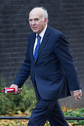 © licensed to London News Pictures. London, UK 29/10/2013. Vince Cable, Business Secretary attending to a cabinet meeting in Downing Street on Tuesday, 29 October 2013. Photo credit: Tolga Akmen/LNP