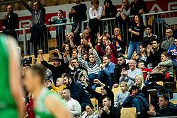 Supporters of Sixt Primorska during basketball match between KK Sixt Primorska and KK Petrol Olimpija in semifinal of Spar Cup 2018/19, on February 16, 2019 in Arena Bonifika, Koper / Capodistria, Slovenia. Photo by Vid Ponikvar / Sportida