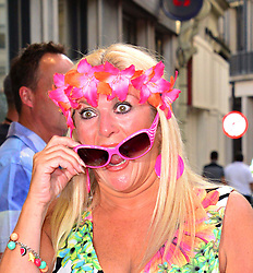 Bula Quo UK film premiere.  <br /> Vanessa Feltz attend premiere of Status Quo action film featuring 12 of the rock band's classic tracks. Directed by former stunt co-ordinator Stuart St Paul, starring Jon Lovitz, Craig Fairbrass, Laura Aikman and the band members themselves. Released July 5. Odeon West End, London, United Kingdom.<br /> Monday, 1st July 2013<br /> Picture by Nils Jorgensen / i-Images