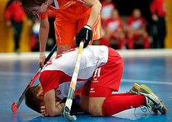 LEIZPIG - WC HOCKEY INDOOR 2015<br /> NED v POL (Pool B)<br /> Foto: ZIMNICKI Dawid and van de PEPPEL Robbert<br /> FFU PRESS AGENCY COPYRIGHT FRANK UIJLENBROEK