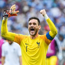 Hugo Lloris of France celebrates the victory during 2018 FIFA World Cup Quarter Final match  between France and Uruguay at Nizhniy Novgorod Stadium on July 6, 2018 in Nizhniy Novgorod, Russia. (Photo by Anthony Dibon/Icon Sport)