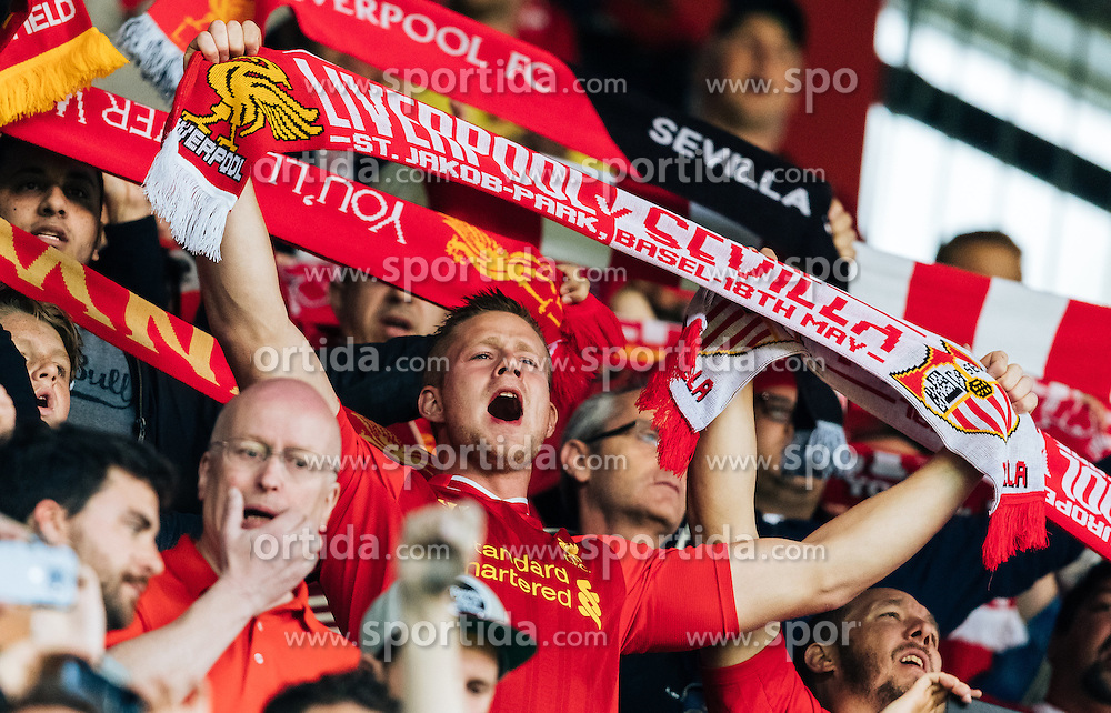 18.05.2016, St. Jakob Park, Basel, SUI, UEFA EL, FC Liverpool vs Sevilla FC, Finale, im Bild Liverpool Fan // Liverpool Supporter during the Final Match of the UEFA Europaleague between FC Liverpool and Sevilla FC at the St. Jakob Park in Basel, Switzerland on 2016/05/18. EXPA Pictures © 2016, PhotoCredit: EXPA/ JFK
