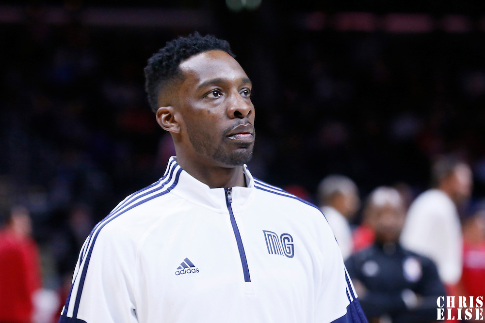 23 February 2015: Memphis Grizzlies forward Jeff Green (32) warms up prior to the Memphis Grizzlies 90-87 victory over the Los Angeles Clippers, at the Staples Center, Los Angeles, California, USA.