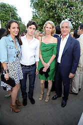 Left to right, TAMARA COHEN, JOHNNY COHEN and their parents SIR RONALD & LADY COHEN at the annual Serpentine Gallery Summer party this year sponsored by Jaguar held at the Serpentine Gallery, Kensington Gardens, London on 8th July 2010.  2010 marks the 40th anniversary of the Serpentine Gallery and the 10th Pavilion.