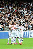 Joie Clement GRENIER - 02.05.2015 - Lyon / Evian Thonon - 35eme journee de Ligue 1<br />Photo : Jean Paul Thomas / Icon Sport