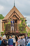 Luxury tree house - The Chelsea Flower Show organised by the Royal Horticultural Society with M&G as its MAIN sponsor for the final year. London 23 May, 2017