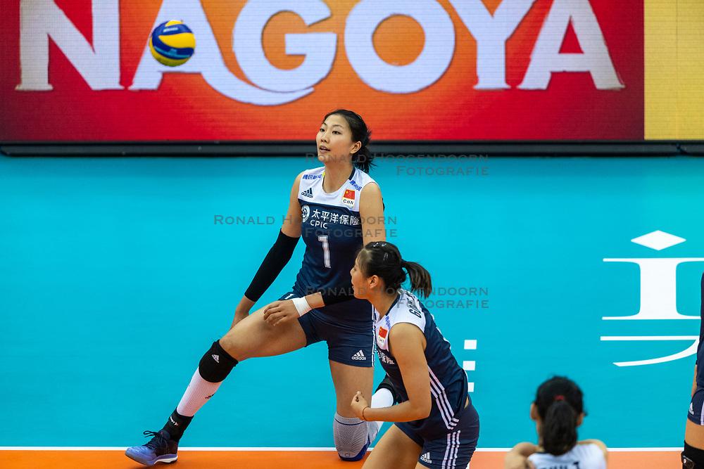 14-10-2018 JPN: World Championship Volleyball Women day 15, Nagoya<br /> China - United States of America 3-2 / Xinyue Yuan #1 of China