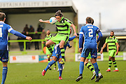 Forest Green Rovers Darren Carter(12) heads the ball during the Vanarama National League match between Forest Green Rovers and Macclesfield Town at the New Lawn, Forest Green, United Kingdom on 4 March 2017. Photo by Shane Healey.