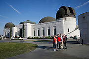 Visitors to Griffith Observatory in Los Angeles take a selfie photo May 13. The town of the Queen of the Angels, later known as simply Los Angeles, was established by the Spanish in September of 1781. It was located just west of Mission San Gabriel, which Blessed Junipero Serra founded 10 years earlier in 1771. © 2015 Nancy Wiechec