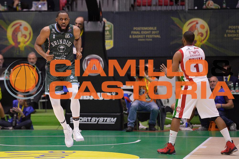 Agbelese Danny<br /> Olimpia EA7 Emporio Armani Milano vs Enel Brindisi<br /> LegaBasket Final Eight Coppa Italia Poste Mobile 2017<br /> Rimini 16/02/2017<br /> Foto Ciamillo-Castoria/ I.Mancini