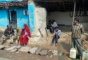 People along the street at Umaria, Madhya Pradesh, India.