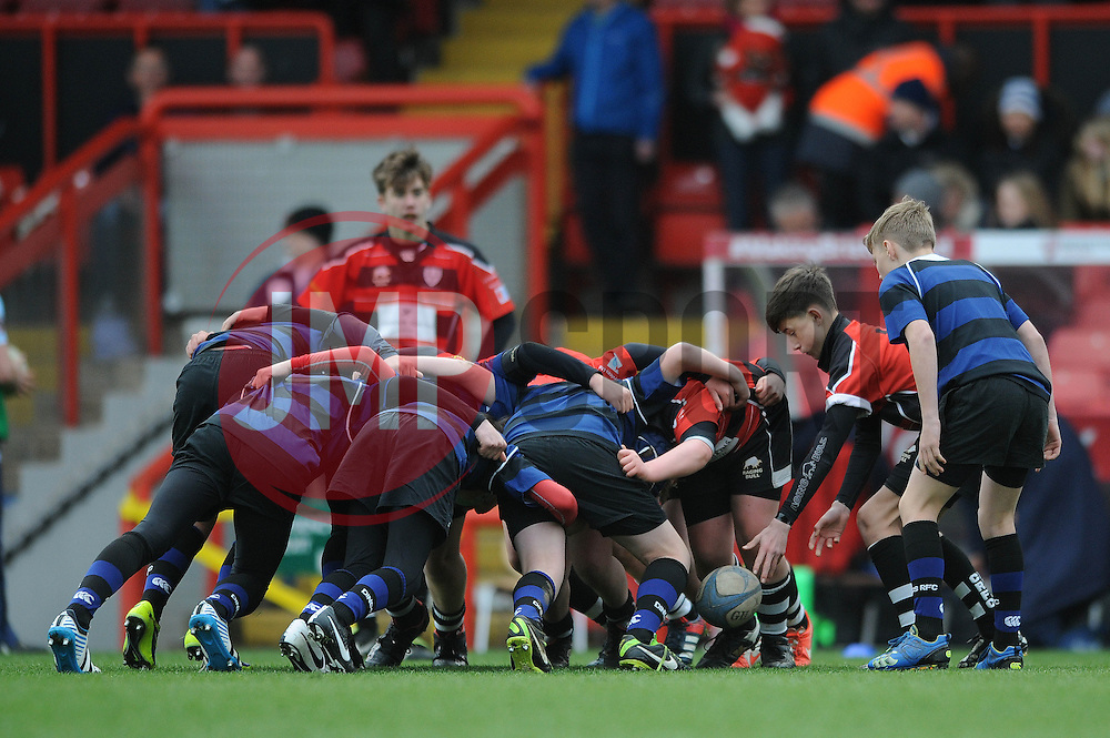 SGS Nandos Cup - Photo mandatory by-line: Dougie Allward/JMP - Mobile: 07966 386802 - 29/03/2015 - SPORT - Rugby - Bristol - Ashton Gate - Bristol Rugby v Bedford Blues - Greene King IPA Championship