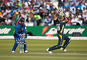 Kumar Sangakkara watches Shahid Afridi bats during the ICC World Twenty20 Cup Final between Sri Lanka and Pakistan at Lord's. Photo © Graham Morris (Tel: +44(0)20 8969 4192 Email: sales@cricketpix.com)