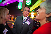 "11 DECEMBER 2011 - SCOTTSDALE, AZ:    Congressman Trent Franks (R-AZ) talks to conservative supporters of Michele Bachmann at a Bachmann fundraiser sponsored by Politics on the Rocks at the Mint in Scottsdale, AZ, Sunday. The Mint is a popular bar and restaurant built in a former bank in Scottsdale, AZ. Politics on the Rocks was started by Charles A. Jensen in Scottsdale, Arizona. The purpose of ""Politics on the Rocks"" is to bring Republican & Conservative Professionals together in a monthly happy hour where they can network, socialize, and hear directly from prominent politicians and successful business leaders.    PHOTO BY JACK KURTZ"