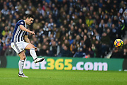 West Bromwich Albion midfielder Gareth Barry (18) during the Premier League match between West Bromwich Albion and Southampton at The Hawthorns, West Bromwich, England on 3 February 2018. Picture by Dennis Goodwin.