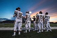 Frisco Heritage prepares to take the field against The Colony during a high school football game at Tommy Briggs Cougar Stadium in The Colony, Texas on September 11, 2015. (Cooper Neill/Special Contributor)