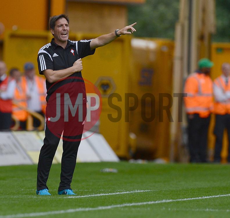 Celta Vigo's Manger Eduardo Barizzo  - Photo mandatory by-line: Alex James/JMP - Tel: Mobile: 07966 386802 2/08/2014 - SPORT - FOOTBALL -  Wolverhampton - Molineux Stadium  -   Wolverhampton vs  Celta Vigo - preseason