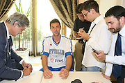 Milano, 18/07/2007<br /> Basket, Nazionale Italiana Maschile Senior<br /> Media Day Conferenza Stampa Hotel Visconti<br /> Nella foto: Andrea Bargnani<br /> Foto Ciamillo