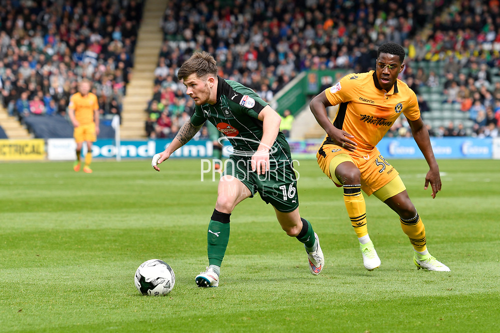 Matthew Kennedy (16) of Plymouth Argyle on the attack during the EFL Sky Bet League 2 match between Plymouth Argyle and Newport County at Home Park, Plymouth, England on 17 April 2017. Photo by Graham Hunt.