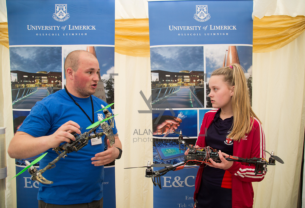 02.05.2017.       <br /> The Limerick for Engineering Showcase returned for its third year to the South Court Hotel in Raheen as demand for engineers in Limerick and the Mid-West region surges. <br /> <br /> Pictured at the event were, Dean Shanahan, Electrical and Computer Engineering UL with Naomi Place, Villiers School, Limerick. Picture: Alan Place.