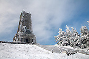 The Shipka Memorial is a memorial to those who died for the Liberation of Bulgaria during the Battles of Shipka Pass in the Russo-Turkish War.