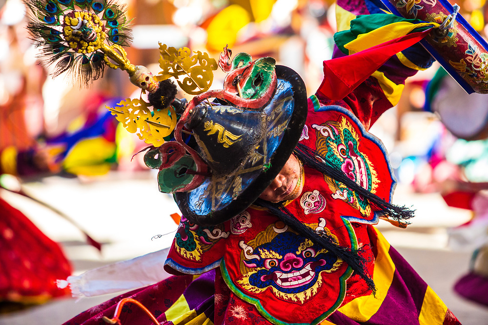 Dancer at a festival in Bhutan