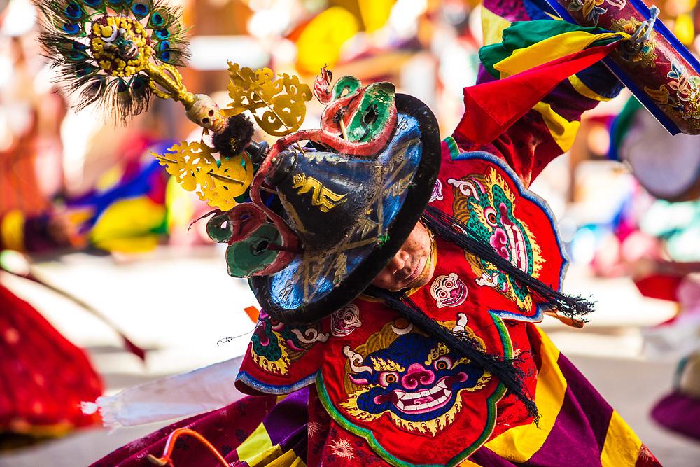 Dancer at a festival in Bhutan