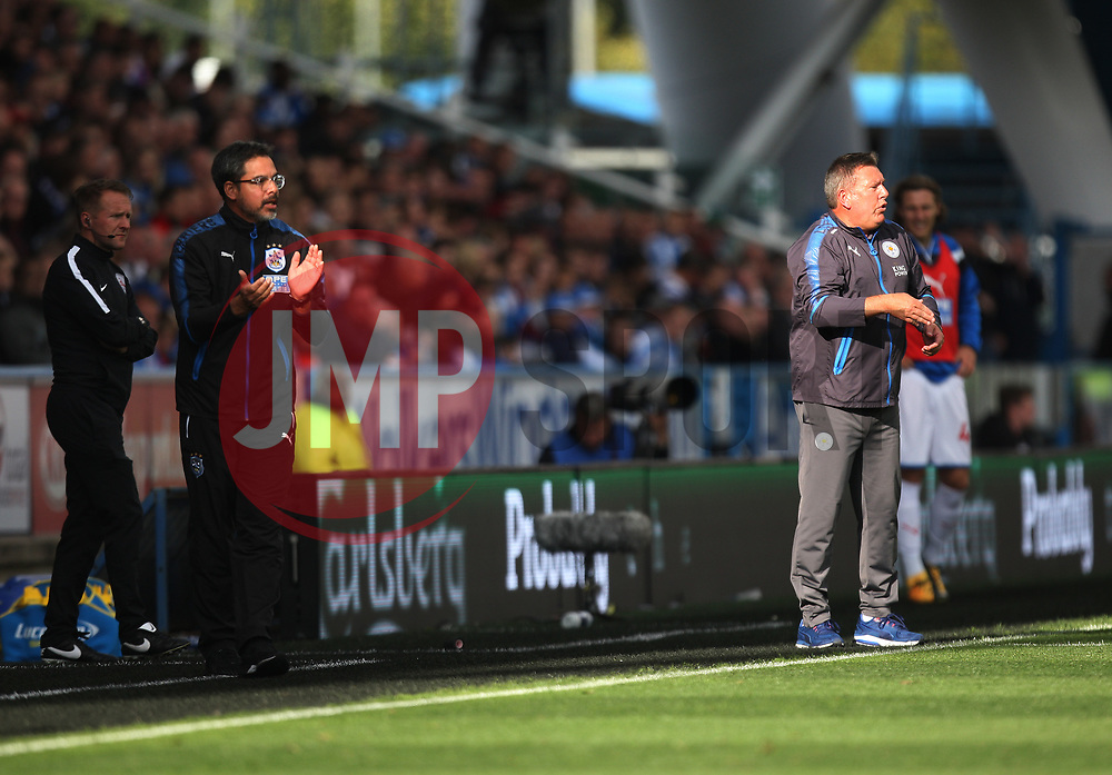Huddersfield Town manager David Wagner (L) and Leicester City manager Craig Shakespeare - Mandatory by-line: Jack Phillips/JMP - 16/09/2017 - FOOTBALL - The John Smith's Stadium - Huddersfield, England - Huddersfield Town v Leicester City - English Premier League