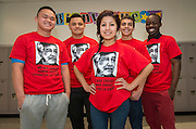 Chavez High School students wear t-shirts celebrating Cesar Chavez Week, March 27, 2014.