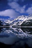 Cold winter morning after storm at Emerald Bay. Lake Tahoe, CA