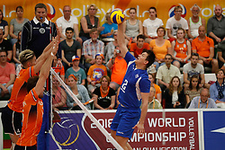 20170525 NED: 2018 FIVB Volleyball World Championship qualification, Koog aan de Zaan<br />Mitar Tzourits (2) of Greece <br />©2017-FotoHoogendoorn.nl / Pim Waslander