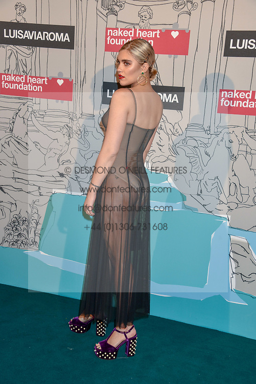 Tiger Lilly Taylor at the Fabulous Fund Fair in aid of Natalia Vodianova's Naked Heart Foundation in association with Luisaviaroma held at The Round House, Camden, London England. 18 February 2019.