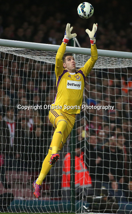21 March 2015 - Barclays Premier League - West Ham United v Sunderland - West Ham goalkeeper Adrian catches the ball.<br /> <br /> Photo: Ryan Smyth/Offside