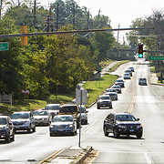 A Lexus SUV turns from Maryland's 6th Congressional District into the 8th from River Rd. in Potomac, Maryland, on Tuesday, September 26, 2017. Maryland's 6th District was redistricted in 2011, combining rural northern Maryland regions with more affluent communities like Potomac and Germantown. <br /> CREDIT: John Boal for The Wall Street Journal<br /> GERRYMANDER