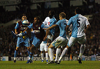 Photo: Tony Oudot.<br /> Tottenham Hotspur v Aston Villa. The FA Barclays Premiership. 01/10/2007.<br /> Gabriel Agbonlahor of Aston Villa juggles the ball past the watching Spus defence