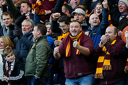 Bradford City fans celebrate after Jonathan Stead scores a goal to make it 2-1 at half time - Photo mandatory by-line: Rogan Thomson/JMP - 07966 386802 - 24/01/2015 - SPORT - FOOTBALL - London, England - Stamford Bridge - Chelsea v Bradford City - FA Cup Fourth Round Proper.